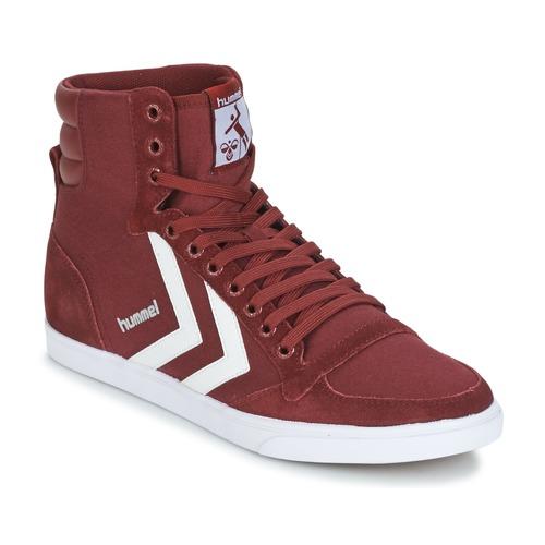 Zapatos especiales para hombres y mujeres Hummel STADIL CANEVAS HIGH Burdeo