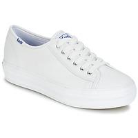 Zapatos Mujer Zapatillas bajas Keds TRIPLE KICK CORE LEATHER Blanco