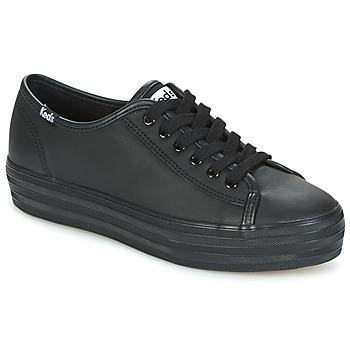 Zapatos Mujer Zapatillas bajas Keds TRIPLE KICK CORE LEATHER Negro