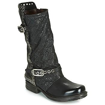 Zapatos Mujer Botas urbanas Airstep / A.S.98 SAINT EC BUCKLE Negro