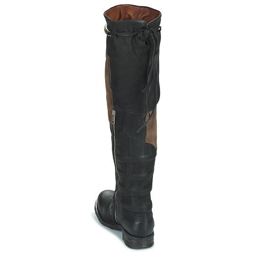 Mujer Rodilla AirstepA Zapatos Patch Ec Negro s A 98 Saint Botas La EH9IWD2