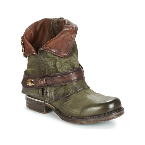 Airstep / A.S.98 SAINT BIKE Kaki - Envío gratis | ! - Zapatos Botas de caña baja Mujer