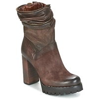Zapatos Mujer Botines Airstep / A.S.98 BLOC ZIP Marrón