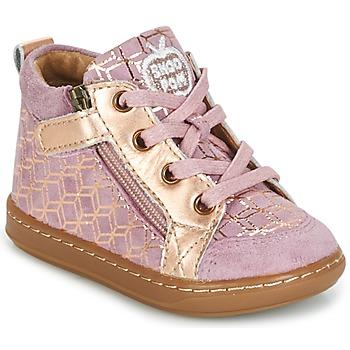 Zapatos Niña Zapatillas altas Shoo Pom BOUBA BI ZIP Rosa / Cobre