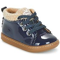 Zapatos Niña Botas de caña baja Shoo Pom BOUBA WOOL Marino / Beige