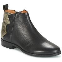 Zapatos Niña Botas de caña baja Adolie ODEON WILD Negro / Platino