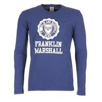 textil Hombre Camisetas manga larga Franklin & Marshall DESTU Marino