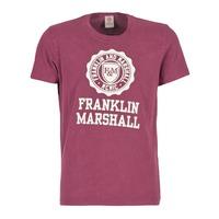 textil Hombre camisetas manga corta Franklin & Marshall GRAVI Burdeo