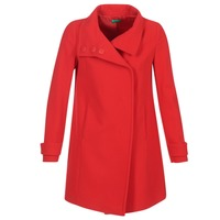 textil Mujer Abrigos Benetton MERCRA Rojo