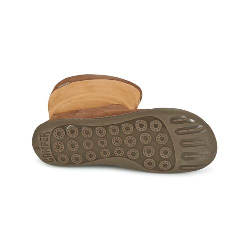 Camper Mujer Caña Botas De Peu Cami Zapatos Baja Marrón XZOPkiu