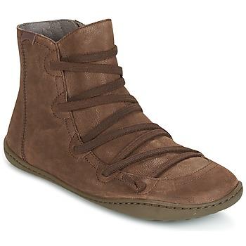 Zapatos Mujer Botas de caña baja Camper PEU CAMI Marrón