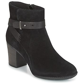 Zapatos Mujer Derbie Clarks ENFIELD SARI Negro / Aterciopleado
