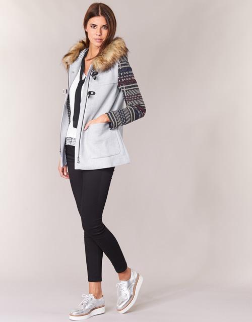 Desigual Mujer Gris Textil Abrigos Gerdi bf76gyY