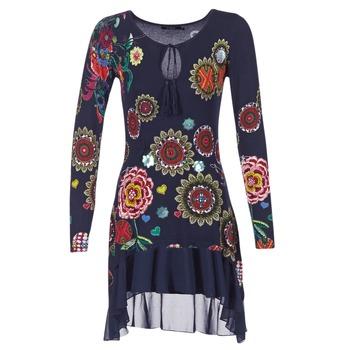textil Mujer vestidos cortos Desigual GRUFI Azul