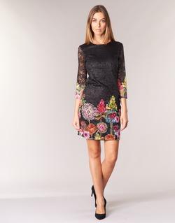 textil Mujer vestidos cortos Desigual GRAFI Negro