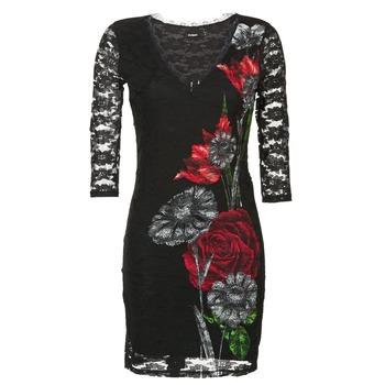 textil Mujer vestidos cortos Desigual GRAFE Negro