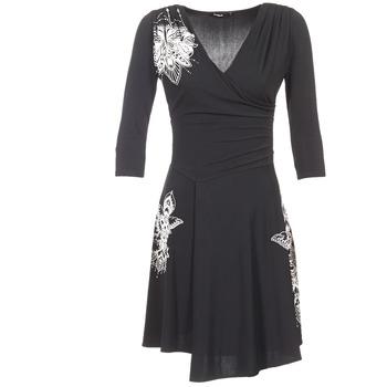textil Mujer vestidos cortos Desigual GRAFU Negro