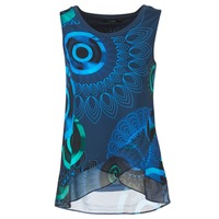 textil Mujer camisetas sin mangas Desigual TAMAC Azul
