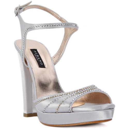 Albano RASO ARGENTO Grigio - Zapatos Sandalias Mujer