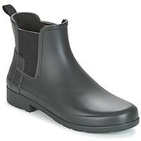 Zapatos Mujer Botas de caña baja Hunter ORIGINAL REFINED CHELSEA Negro