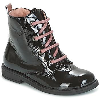 Zapatos Niños Botas de caña baja Citrouille et Compagnie HEMANU Negro / Rosa