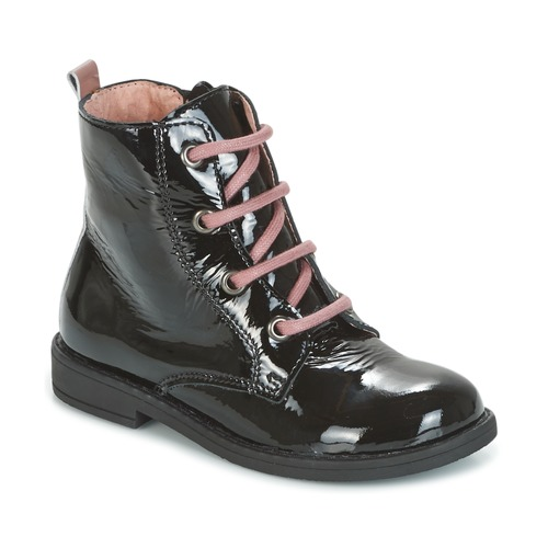Zapatos Niña Botas de caña baja Citrouille et Compagnie HEMANU Negro / Rosa