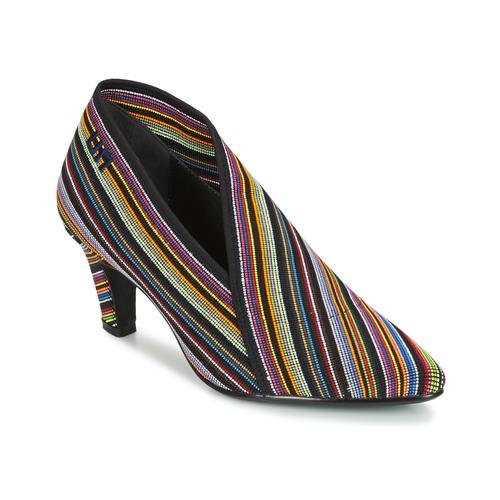 Zapatos casuales salvajes Zapatos especiales United nude FOLD LITE MID Negro / Multicolor