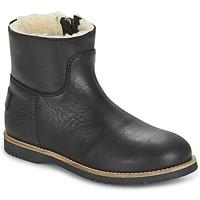 Zapatos Niña Botas de caña baja Shabbies LOW STITCHDOWN LINED Negro