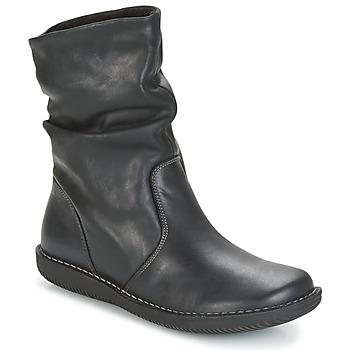 Zapatos Mujer Botas de caña baja Casual Attitude FILL Negro