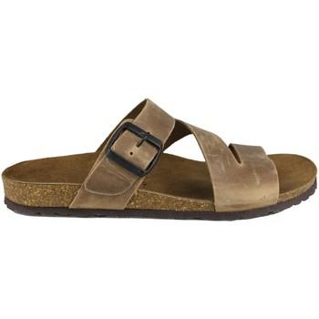 Zapatos Hombre Zuecos (Mules) Interbios CASUAL HEBILLA Z BEIGE