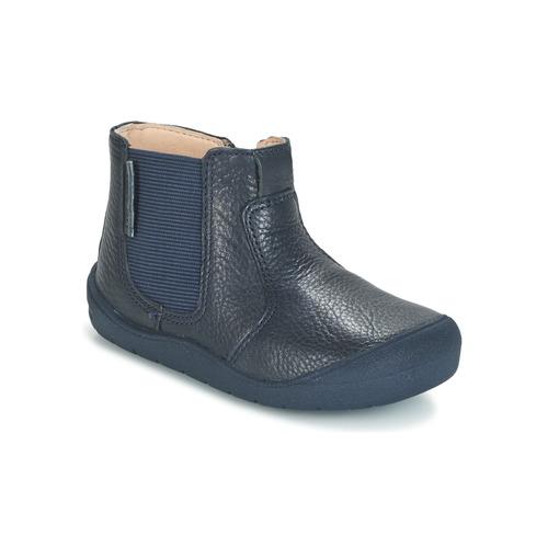 Zapatos Niños Botas de caña baja Start Rite FIRST CHELSEA Marino