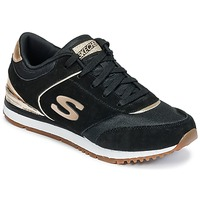 Zapatos Mujer Fitness / Training Skechers SUNLITE Negro / DORADO
