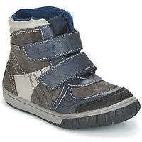 Zapatos Niño Botas de nieve Kickers SITROUILLE Gris / Azul