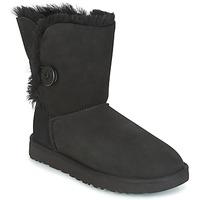 Zapatos Mujer Botas de caña baja UGG BAILEY BUTTON II Negro