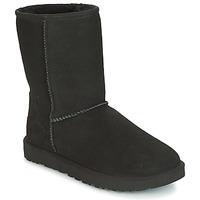 Zapatos Mujer Botas de caña baja UGG CLASSIC SHORT II Negro