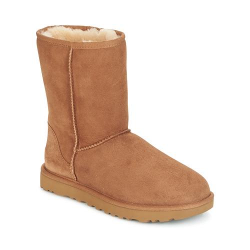 Zapatos Mujer Botas de caña baja UGG CLASSIC SHORT II Camel