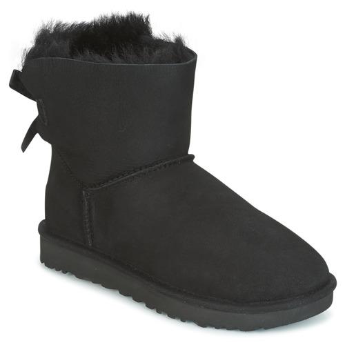 Zapatos Mujer Botas de caña baja UGG MINI BAILEY BOW II Negro
