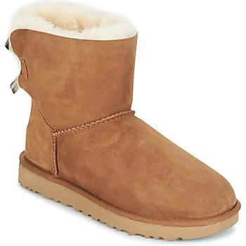 Zapatos Mujer Botas de caña baja UGG MINI BAILEY BOW II Camel