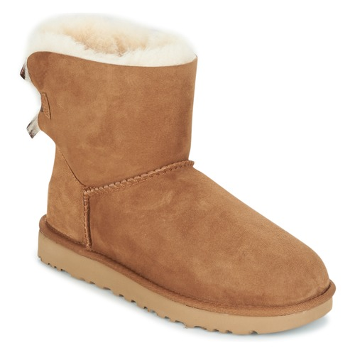 69d6b870 UGG MINI BAILEY BOW II Camel - Envío gratis | Spartoo.es ! - Zapatos ...