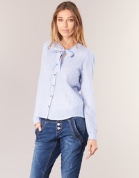 textil Mujer camisas Cream CAMA STRIPED SHIRT Azul