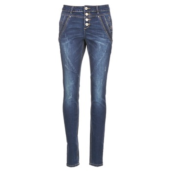 textil Mujer vaqueros rectos Cream NYNNE JEANS BAILEY FIT Azul