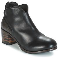 Zapatos Mujer Botas de caña baja Moma CUSNA NERO/ TALON TACO MIX, ARRIRE AFRICA Negro / Plateado