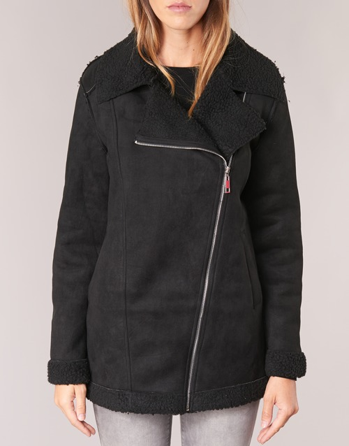Abrigos Negro Betty Textil Harmi London Mujer OvN80mwn