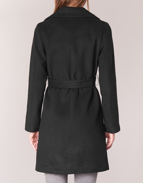 Textil Attitude Abrigos Mujer Negro Casual Halloa Yfyv6b7g