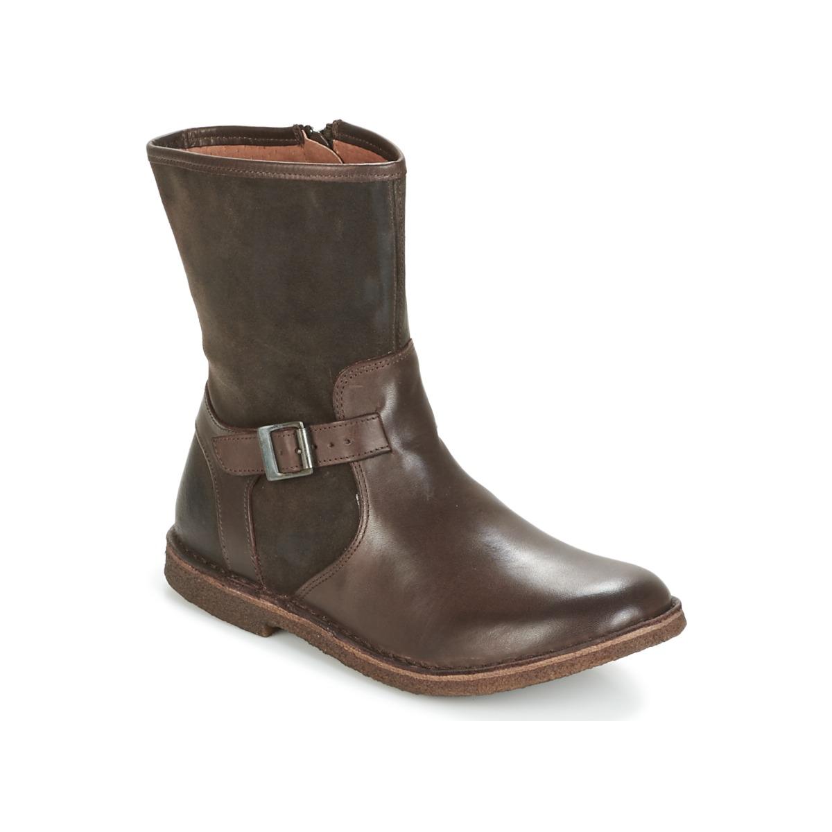 Zapatos Mujer Botas de caña baja Kickers CREEK Marrón c8c53aee2b7b