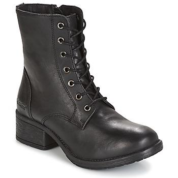 Zapatos Mujer Botas de caña baja Kickers REKABBY Negro