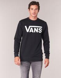 textil Hombre sudaderas Vans VANS CLASSIC CREW Negro