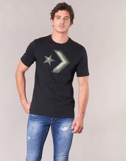 textil Hombre camisetas manga corta Converse DIMENSIONAL LAYER STAR CHEVRON TEE Negro