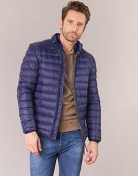 textil Hombre plumas Vicomte A. DOUDOUNE HOMME MANCHES LONGUES NAVY Marino
