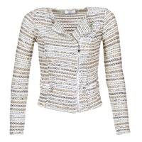 textil Mujer Chaquetas / Americana Le Temps des Cerises MIRABEAU Beige / Blanco